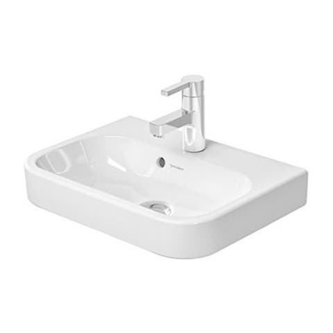 Duravit White Alpin Happy D Wall-Mount Porcelain Bathroom Sink 0710500000
