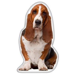 Basset Hound Shaped Pillow