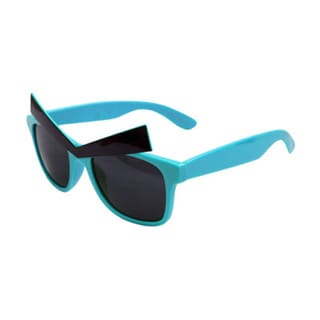 Teal Classic-style Glasses with Eyebrows