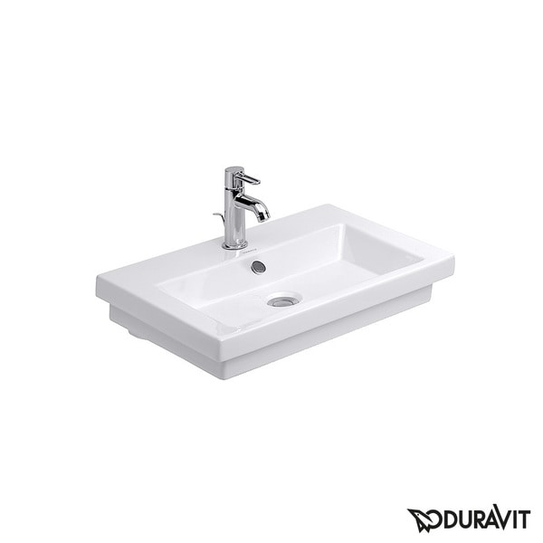 shop duravit white alpin 2nd floor drop in porcelain bathroom sink free shipping today. Black Bedroom Furniture Sets. Home Design Ideas