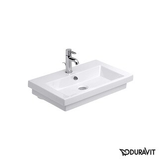 Duravit White Alpin 2nd Floor Drop In/Self Rimming Porcelain Bathroom Sink