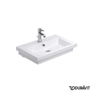 Duravit White Alpin 2nd Floor Drop In/Self Rimming Porcelain Bathroom Sink