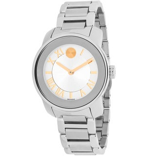 Movado Women's 3600244 Bold Round Silvertone Stainless Steel Bracelet Watch