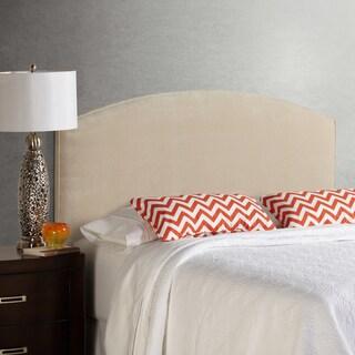 Humble + Haute Bingham Queen Size Ivory Velvet Curved Upholstered Headboard