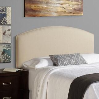 Humble + Haute Bingham Full Size Ivory Linen Blend Curved Upholstered Headboard