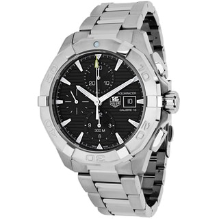 Tag Heuer Men's CAY2110.BA0925 Aquaracer Round Silvertone Stainless Steel Bracelet Watch