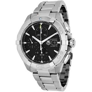 Tag Heuer Men's CAY2110.BA0925 Aquaracer Round Silvertone Stainless Steel Bracelet Watch