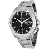 Tag Heuer Men's  Aquaracer Round Silvertone Stainless Steel Bracelet Watch