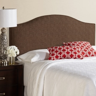 Humble + Haute Bingham Full Size Dark Chocolate Arched Upholstered Headboard