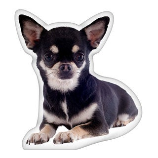 Chihuahua Black Shaped Pillow