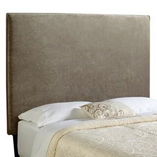 Humble + Haute Bingham Tall Light Grey Velvet Upholstered Headboard