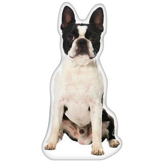 Boston Terrier Shaped Pillow