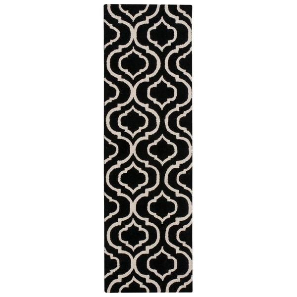 Nourison Linear Black White Runner Rug - 2'3 x 7'6