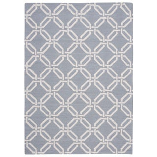 Nourison Linear Light Blue Rug (7'6 x 9'6)