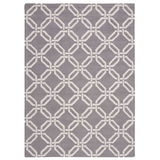 Nourison Linear Silver Rug (7'6 x 9'6)