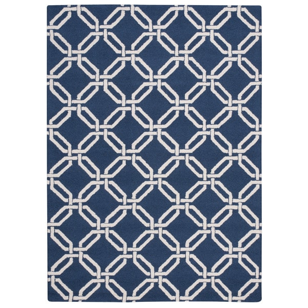 Nourison Linear Navy Rug (5' x 7')