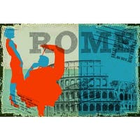 """Marmont Hill - """"Travel Rome"""" by Saturday Evening Post Painting Print on Canvas - Multi-color"""
