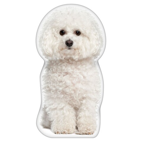 Bichon Frise Shaped Pillow
