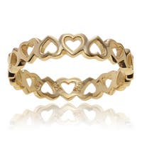 Journee Collection Sterling Silver Heart Band Ring (3.5mm)