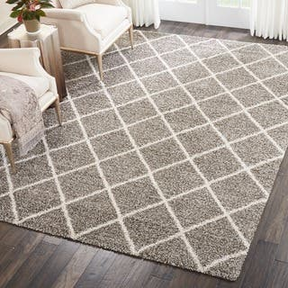 Nourison Brisbane Shag Stone Rug (8'2 x 10')|https://ak1.ostkcdn.com/images/products/10487236/P17575241.jpg?impolicy=medium
