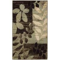 Nourison Mondrian Black Accent Rug - 2'3 x 3'9