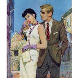 "Marmont Hill - ""The Lady Had an Angle"" by Coby Whitmore Painting Print on Canvas"