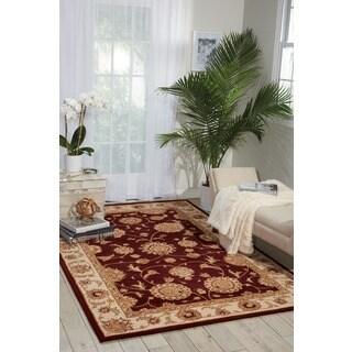 Nourison Silk Touch Burgundy Rug (7'9 x 9'9)
