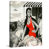 "Marmont Hill - ""Red Hot Woman"" Painting Print on Canvas - Multi-color"