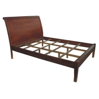 Sumatra Panel Sleigh King Bed (Indonesia)