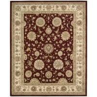 Nourison Silk Touch Burgundy Rug (5' x 8')