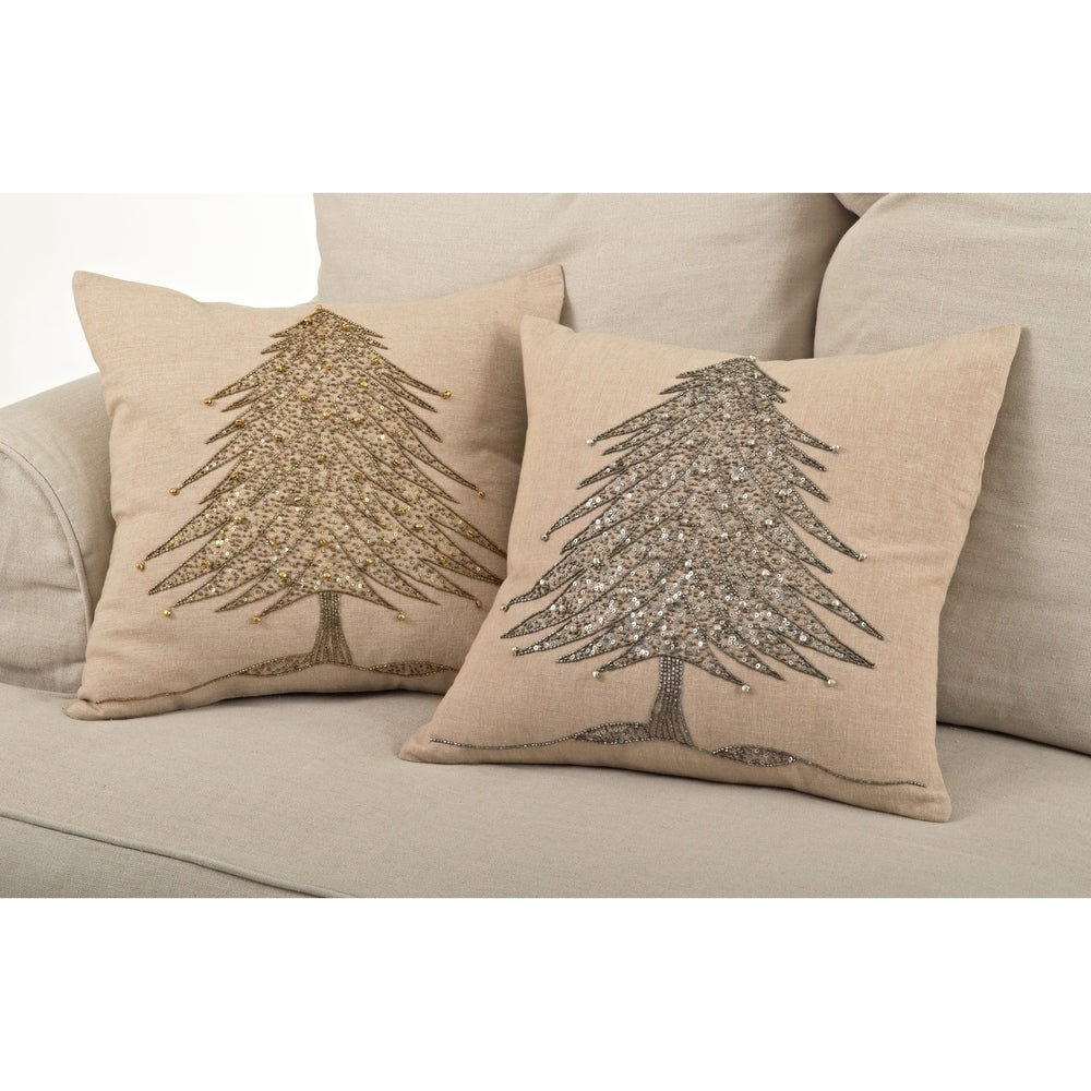 Shop Beaded Xmas Tree Design Pillow - 10487354