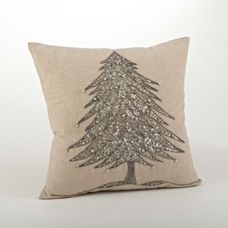 Beaded Xmas Tree Design Pillow