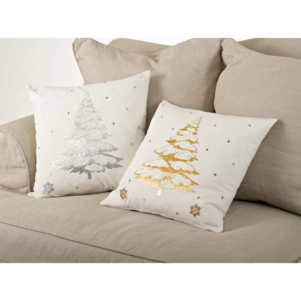 Shop Embr. & Foil Print Throw Pillow - 20inch - Overstock - 10487369