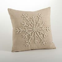 Hand Knotted Snowflake Throw Pillows
