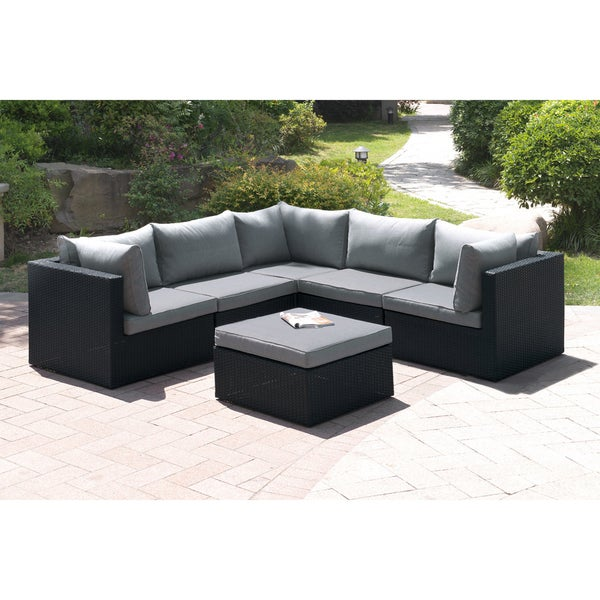 Wonderful Tetiiv 6 Piece Patio Sectional Sofa Set