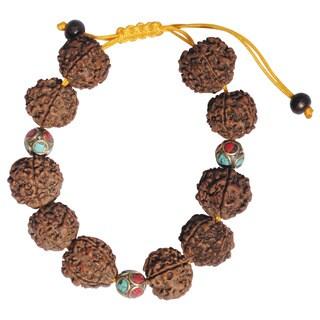Handmade Nepal Turquoise Coral Rudraksha Bracelet (Nepal)