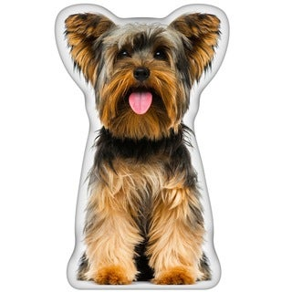 Yorkie Shaped Pillow