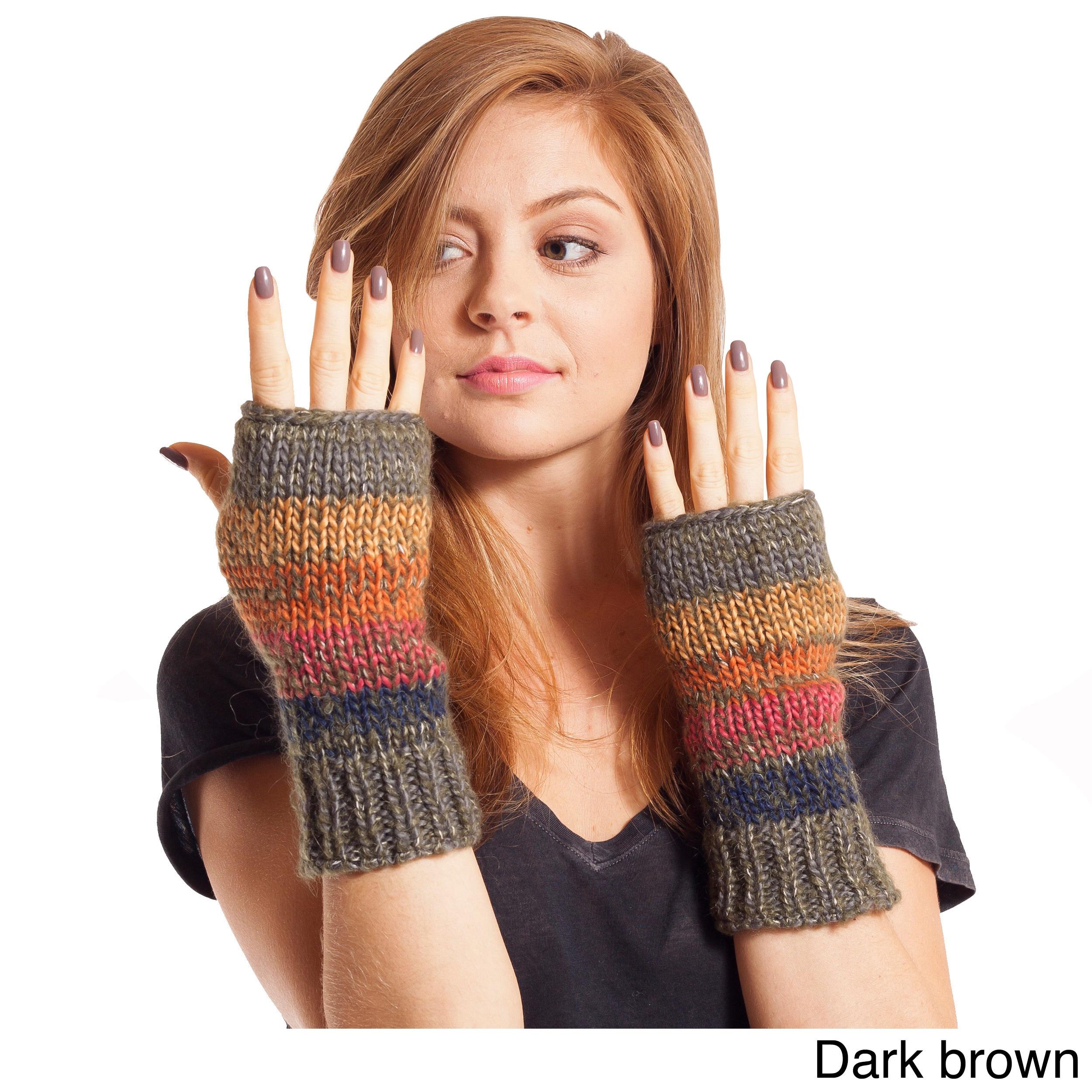 Handmade Women's Winter Classic Mohair Wool/ AcrylicKnit ...