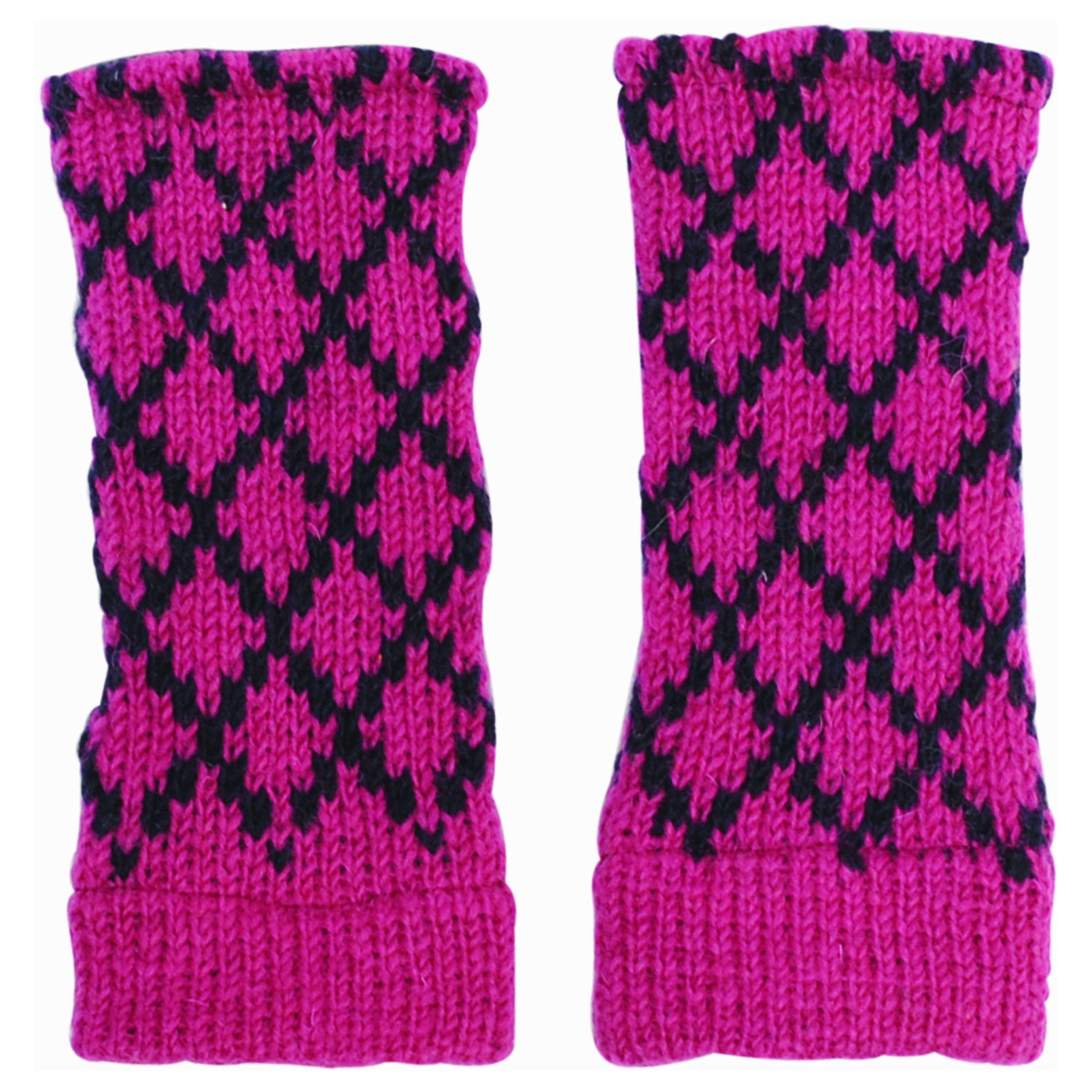 Handmade Women's Winter Classic Wool Knit Glittens Finger...