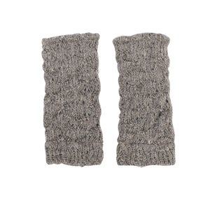 Women's Winter Classic Acrylic Knit Glittens Fingerless Gloves (Nepal)