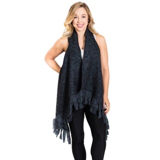 Handmade Fringed Waterfall Wool Vest (Nepal) (3 options available)
