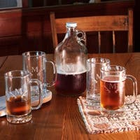 Antlers Monogram 5-Piece Growler and Beer Mug Set