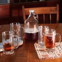 Antlers Monogram 5-Piece Growler and Beer Mug Set