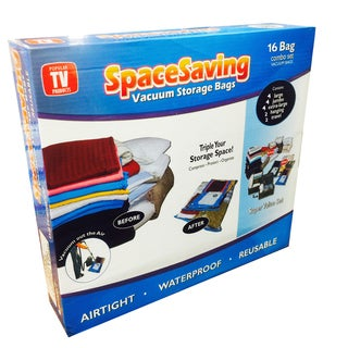 As Seen on TV Space Saving Bags 16-piece Deluxe Set