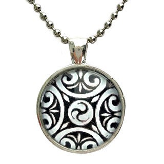 Atkinson Creations Celtic Triskeliont Glass Pendant Necklace