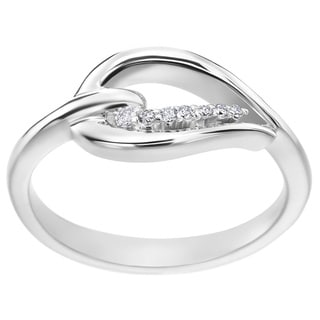 SummerRose 14k White Gold 1/10ct TDW Diamond Heart Accent Ring ( H-I, SI1-SI2)