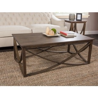 Kosas Home Hand-finished Maura Rustic Mahogany Coffee Table