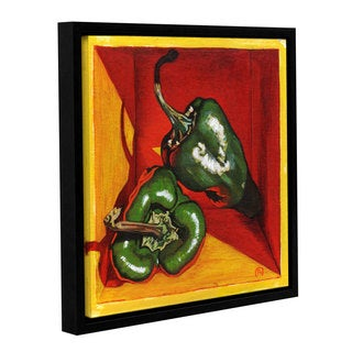 ArtWall Paige Wallis 'Poblano' Gallery-wrapped Floater-framed Canvas