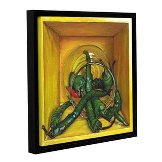 ArtWall Paige Wallis 'Cayenne' Gallery-wrapped Floater-framed Canvas