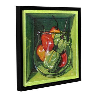 ArtWall Paige Wallis 'Habanero' Gallery-wrapped Floater-framed Canvas